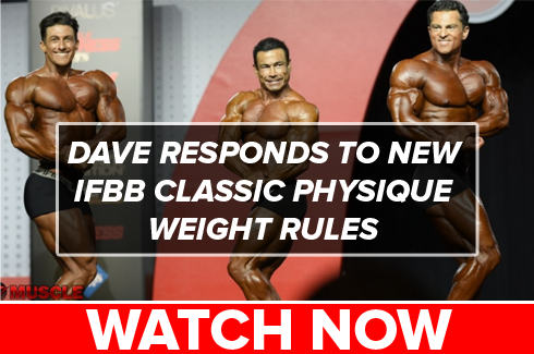 dave palumbo responds to new ifbb classic physique weight rules