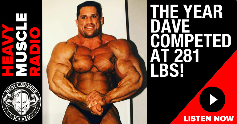 the year dave palumbo competed at 281