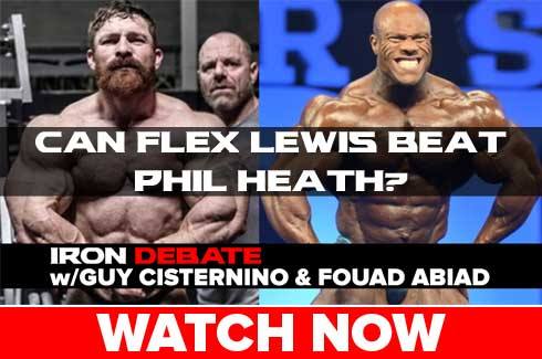 phil heath flex lewis iron debate