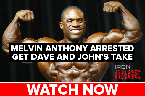 melvin anthony bodybuilder arrested