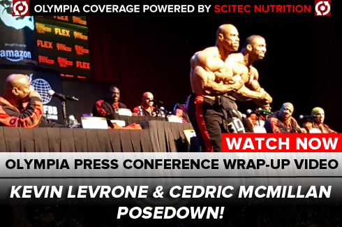 kevin levrone and cedric mcmillan posedown olympia 2016 press conference