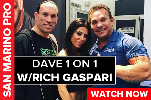 rich gaspari interview with dave palumbo san marino pro on rxmuscle