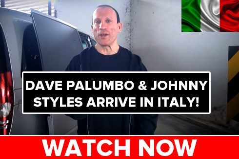 dave palumbo arrives in italy