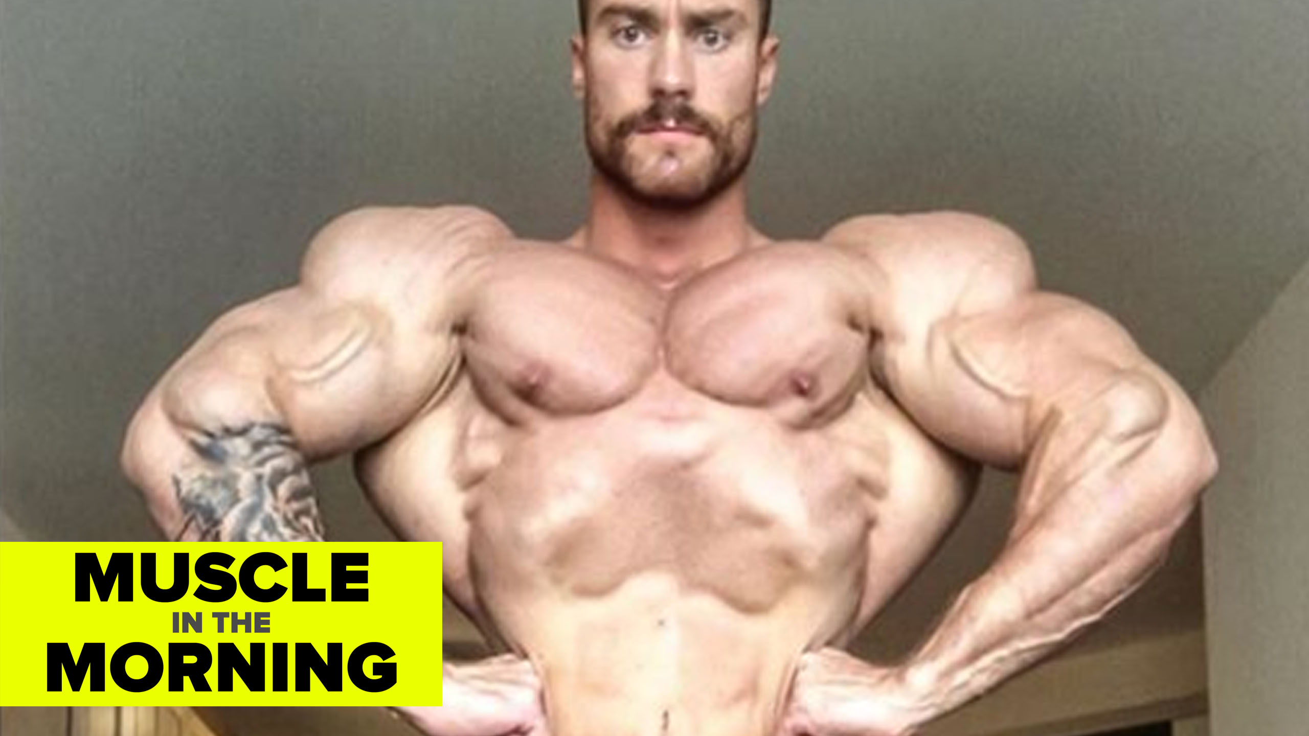 chris bumstead 2 weeks out 2018 olympia