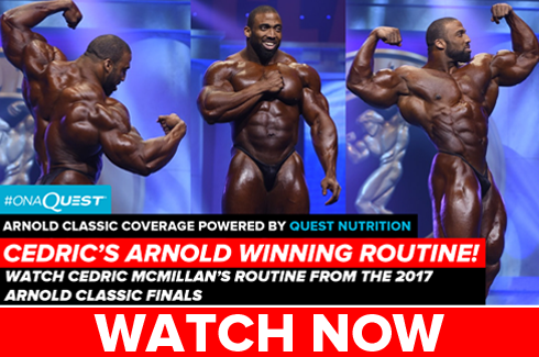 cedric mcmillan arnold classic posing routine video