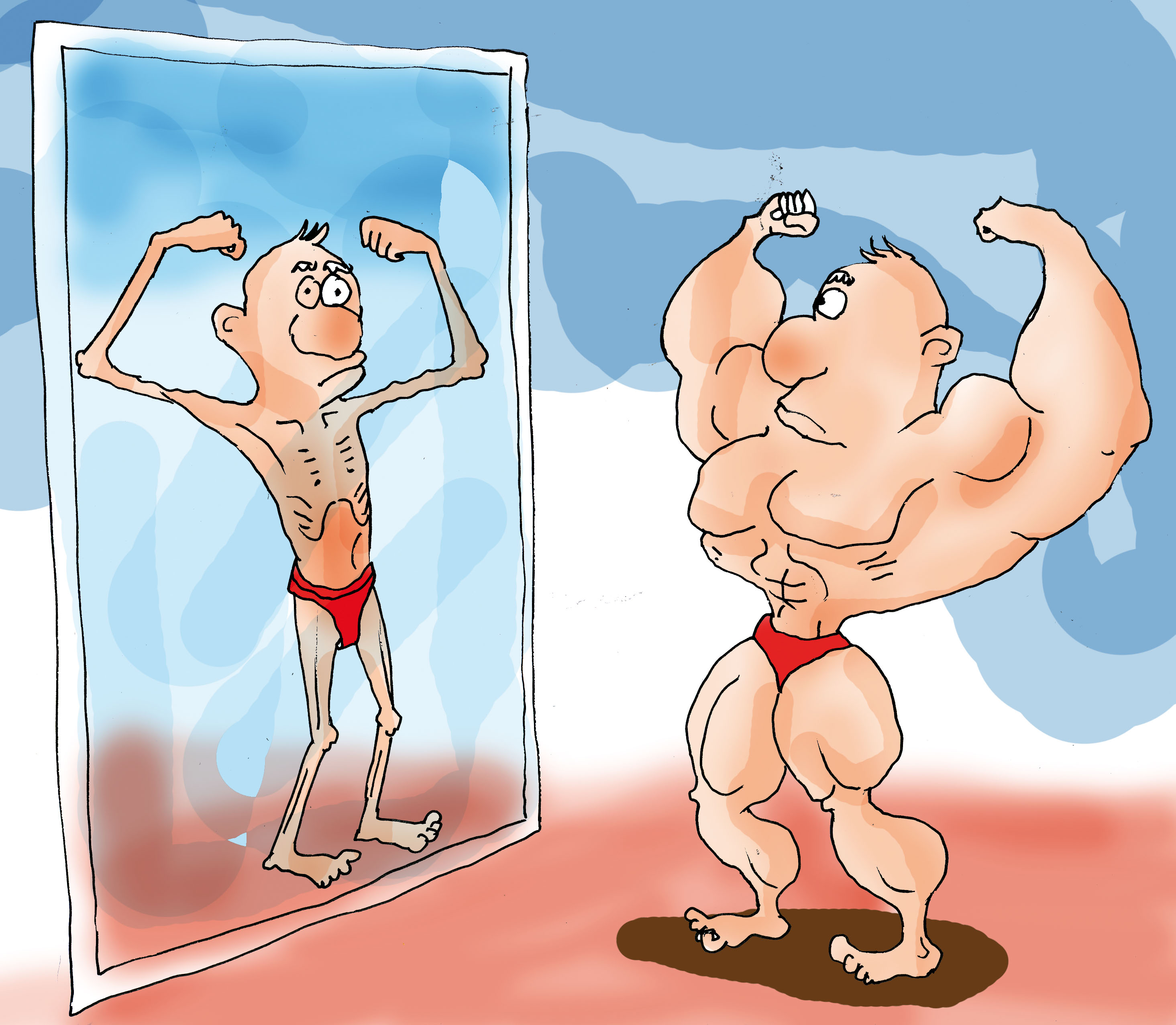bodybuilder mirror