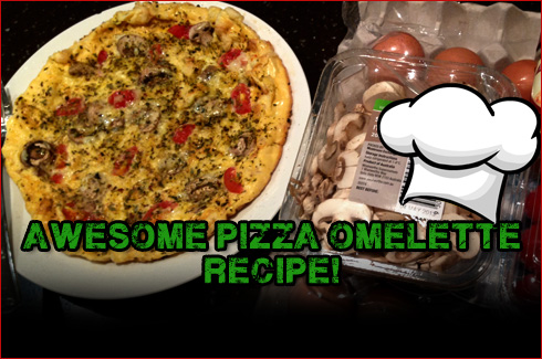 Protein pizza omlette recipe