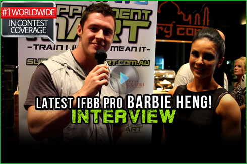 IFBB pro barbie heng pro card xavier wills interview