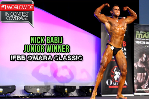 Nick Babij ifbb omara classic 2013 junior interview