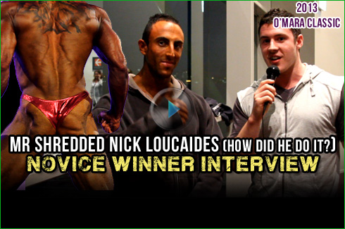 Nick Loucaides interview xavier wills ifbb omara classic 2013