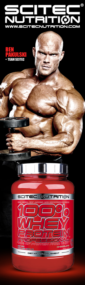 Pak Man uses Scitec Whey Protein Pro