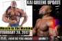 KAI GREENE IN ACTION! - Muscle In The Morning February 20, 2017