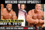 WEEKEND UPDATES- Muscle In The Morning May 9, 2017