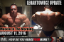 LENARTOWICZ UPDATE! - Muscle In The Morning August 11, 2016