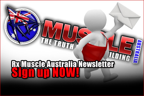 Rx Muscle Australia Newsletter sign up