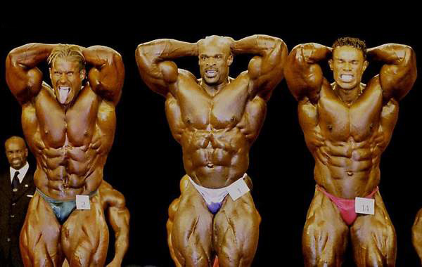 Jay Cutler, Ronnie Coleman, Kevin Levrone at the 2001 Mr_ Olympia