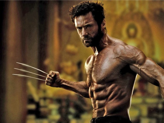Hugh Jackman Wolverine ripped leangains