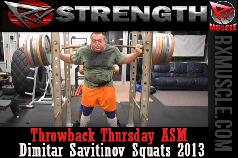 Throw Back Thursday: American Strongman Dimitar Savitinov Squats: 2013