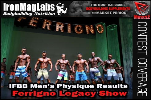 Ferrigno Legacy IFBB Men's Physique Results, Scorecard and Stage Pics