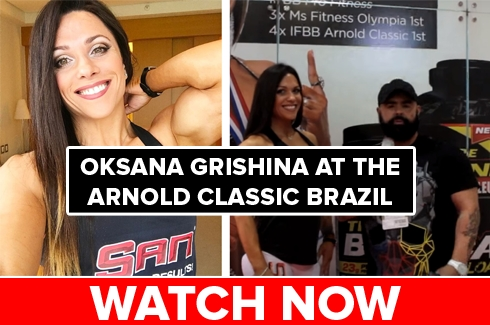 Oksana Grishina at the Arnold Brazil