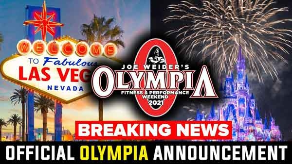 Mr Olympia Moved to new Location!