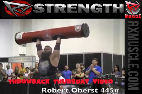 Robert Oberst's Max Overhead Log Press Attempts: Throwback Thursday Video!