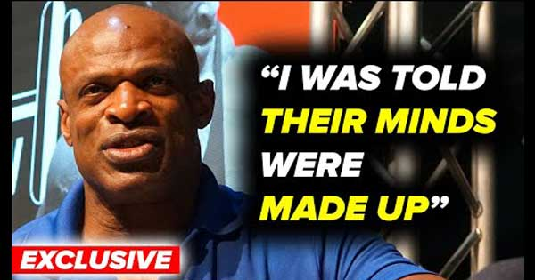RONNIE COLEMAN ON 06 OLYMPIA LOSS
