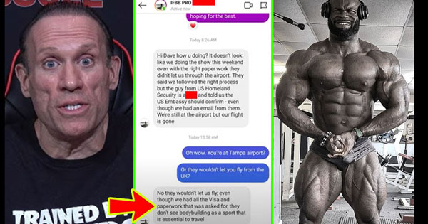 BRITISH IFBB PRO DENIED US ENTRY